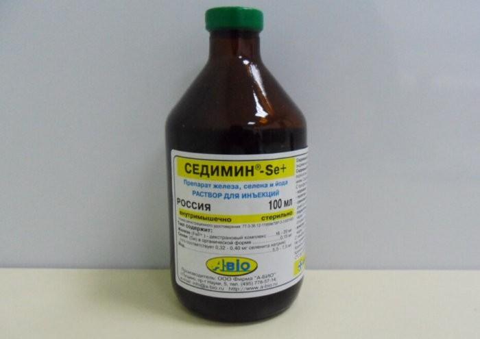 Седимин содержит важные для здоровья свиней селей, йод и железо