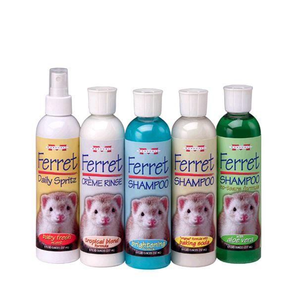 Существует много разновидностей шампуней для хорьков