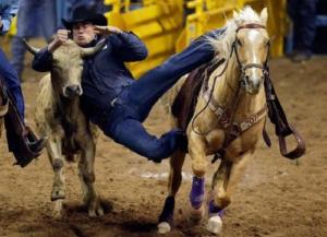 Ловля бычка с лошади
