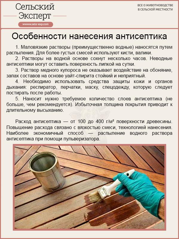 Особенности нанесения антисептика