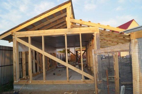 Крыша должна иметь один или два ската, чтобы осадки не скапливались наверху