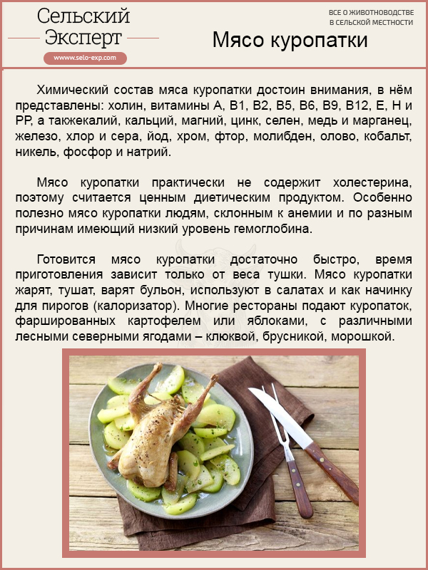 Мясо куропатки